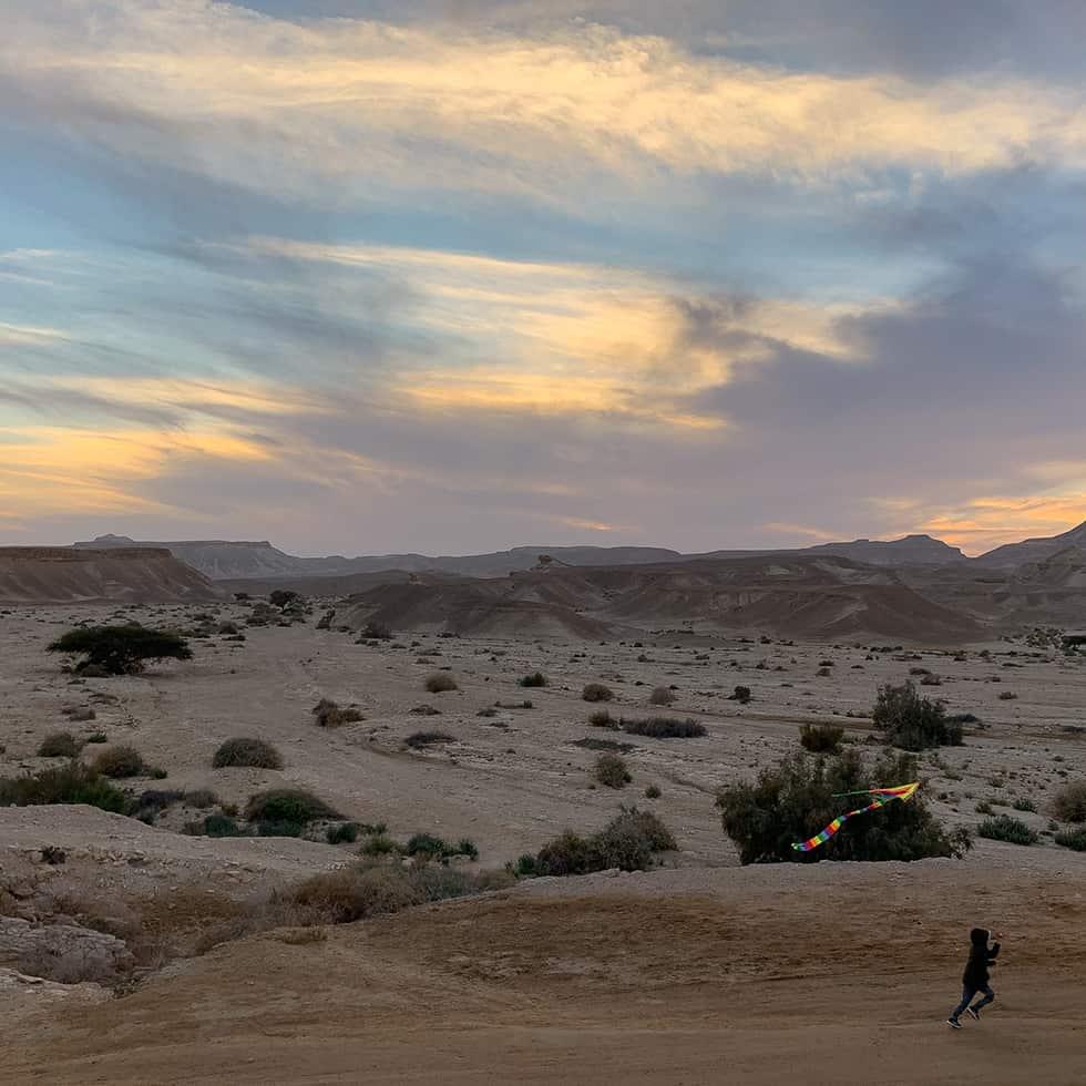 הנוף המושלם הנשקף מהישוב צוקים, ערבה