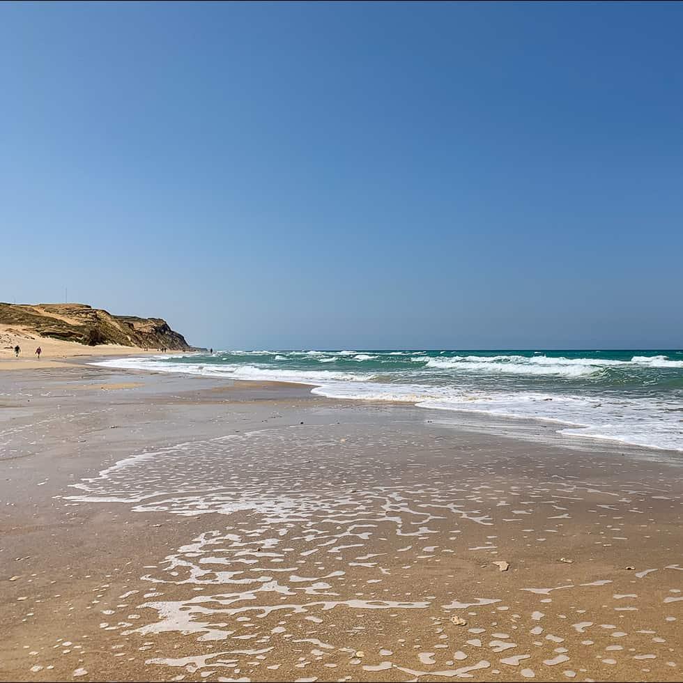 רצועת החוף הרחבה בפולג, נתניה