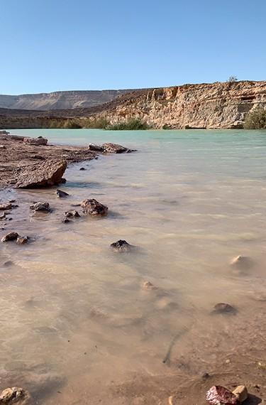 מחצבת אבן רוח מים מכתש רמון
