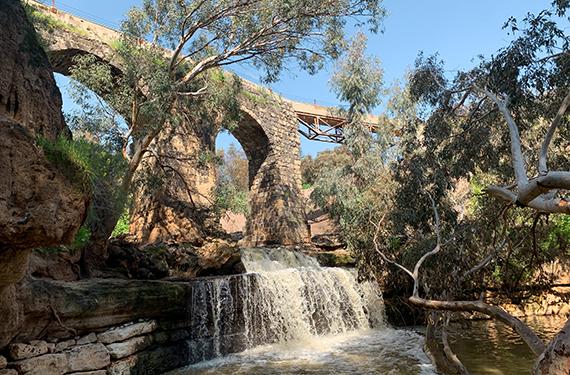 גשר קנטרה היפהפה והמרשים בנחל חרוד בעמק המעיינות
