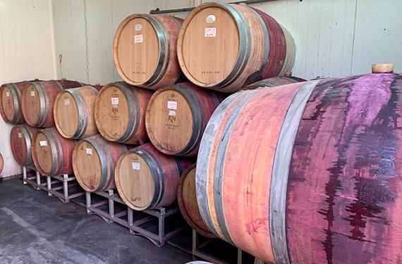 חביות יין בחדר החביות ביקב רמת נגב